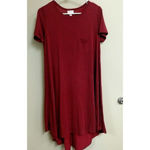 Burgundy LuLaRoe Carly Dress